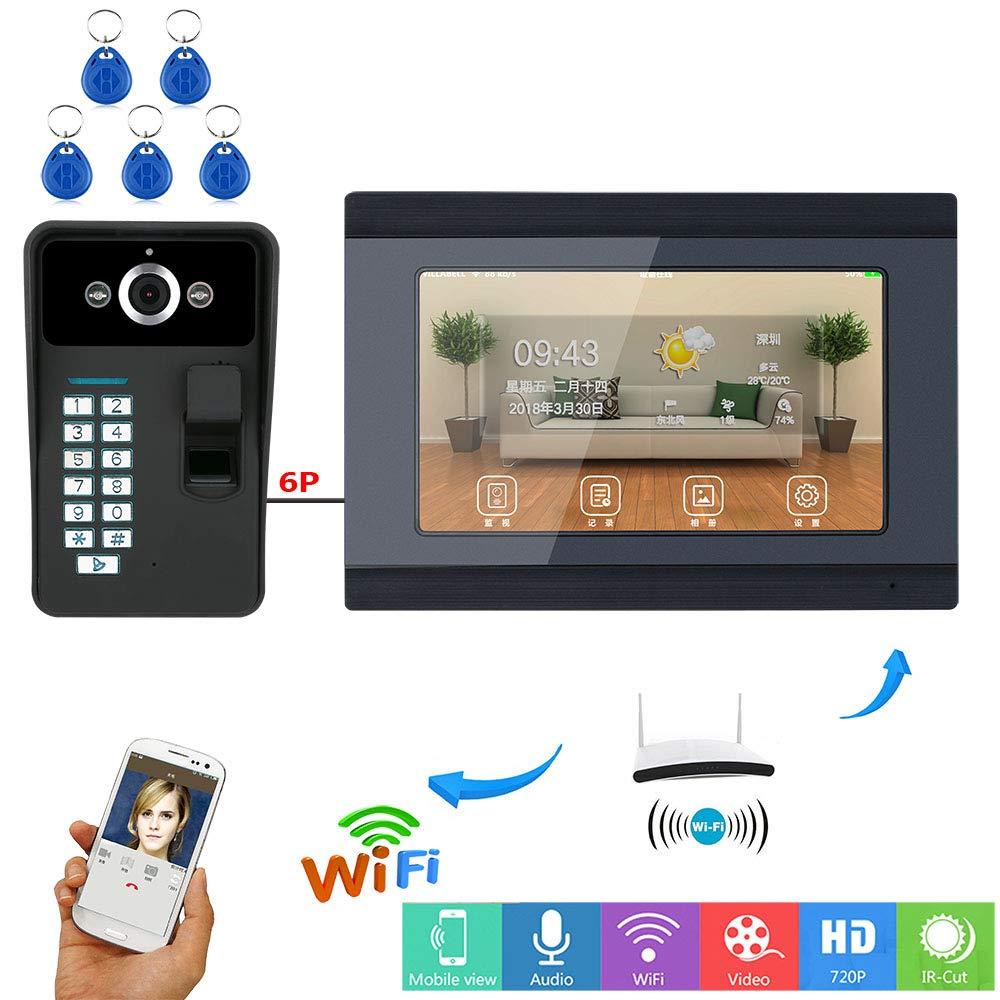 COL PETTI Video-Türklingel, Video-Türtelefon Mit 3 Monitoren 7Inch Mit IR-Kamera 1000 TV Line Fernbedienung
