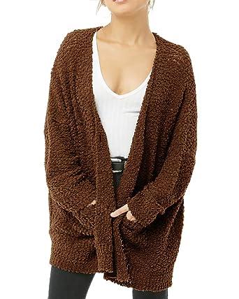 771cf0f3b97 Plus Size Womens Sherpa Fleece Jacket Winter Coats Fuzzy Fluffy Faux Fur  Cardigans with Pockets