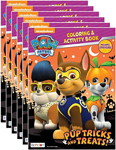 Nickelodeon's Paw Patrol Halloween Coloring and Activity Book with Stickers (Pack of 6)