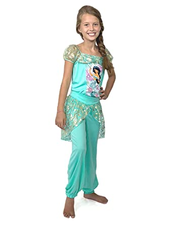 Amazon.com  Disney Princess Jasmine Girls Fantasy Pajamas (Little ... d93f69cc8