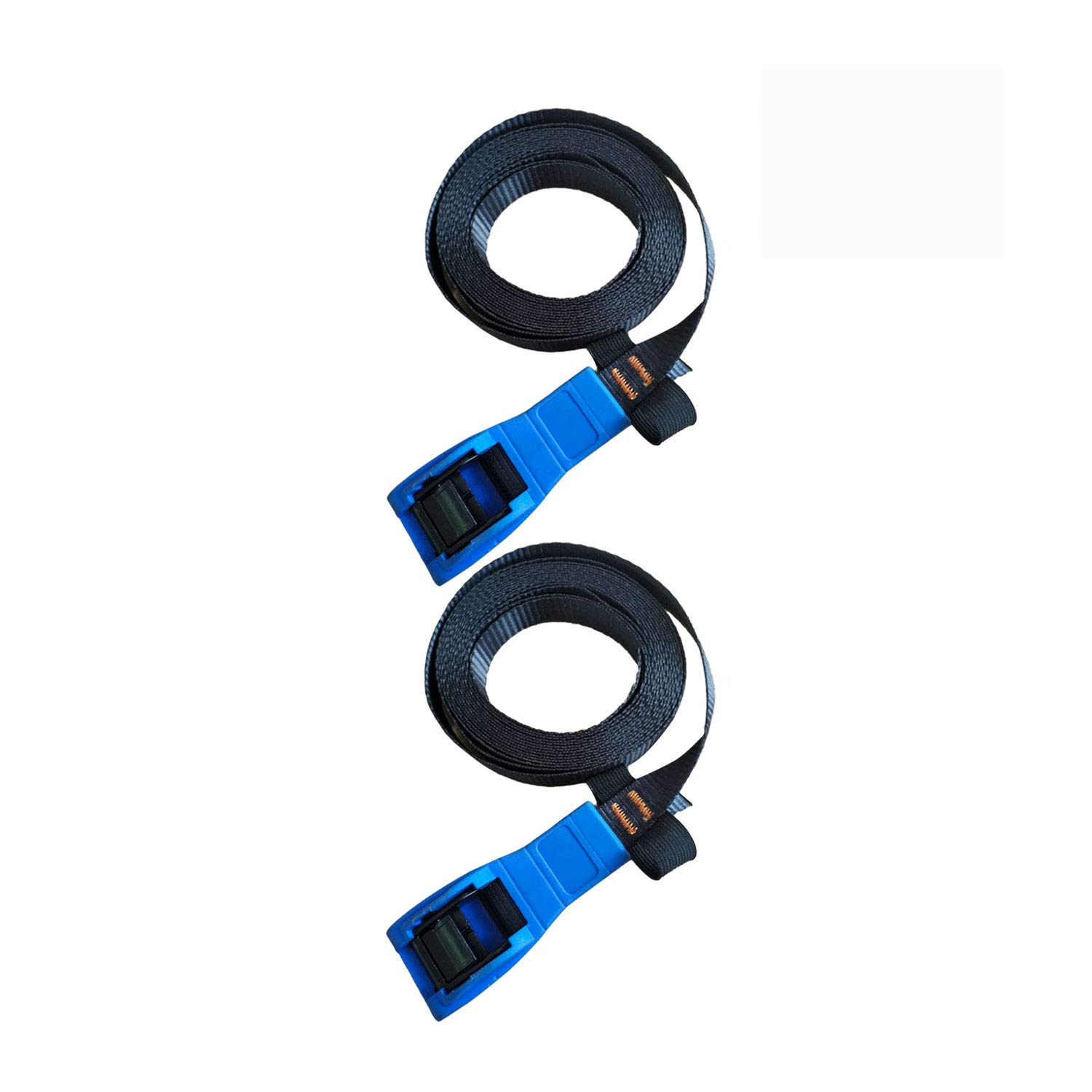 Onefeng Sports 2 Pack 16' Tie Down Strap Lashing Strap Cargo Tie-down Strap Padded Cam Lock Buckle (2, 16 FT)