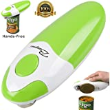 BangRui Smooth Soft Edge Electric Can Opener with One-Button Manual Start / Stop, Green