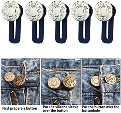 1//2//5pcs Jeans Retractable Button Adjustable Detachable Extended Button