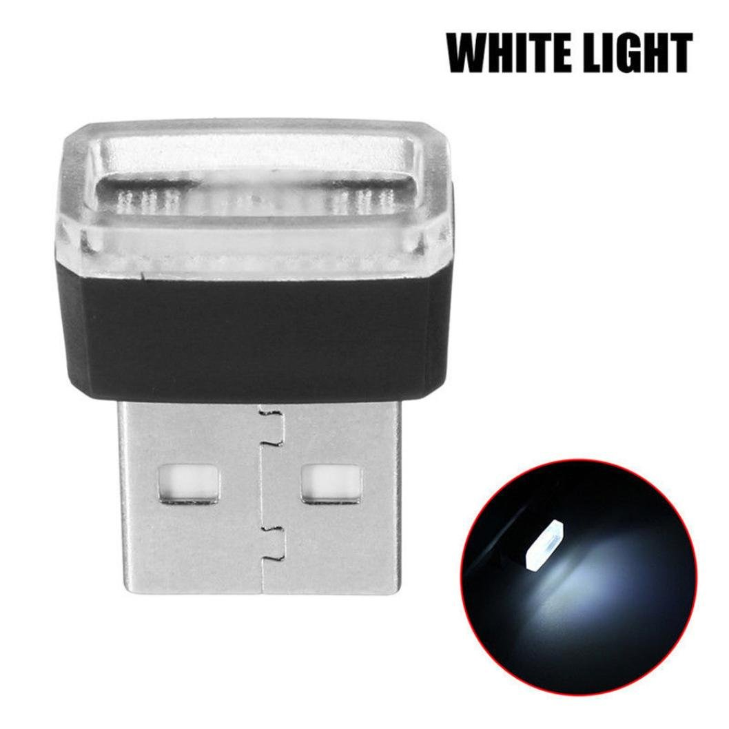 Glumes USB Led Light, Mini Wireless Car Interior Lighting Atmosphere Light Accessory Universal Ambient Lamps for Bedroom,Car Interior Decoration, Camping, Party,Holiday (White)