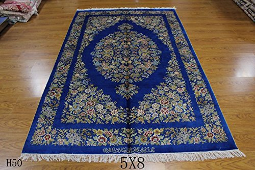 Yuchen New 5x8 Ft Blue Silk Royal Palace - Royal Palace Runner Rug Shopping Results