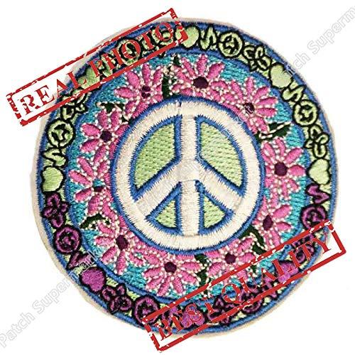 3inch Tatto Peace Sign Daisy Hippie Boho Retro Flower Love Hippy Weed Appliquepatch Rockabilly Fans Birthday Gift