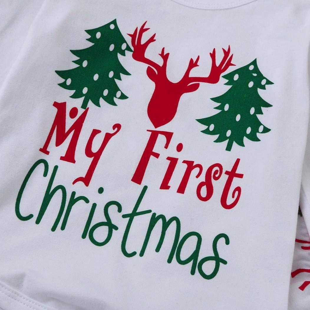 Hose 1 Hut Weihnachts-Outfit Set Roten Strampler Angel ZYJ Baby Jungen M/ädchen Strampler Set