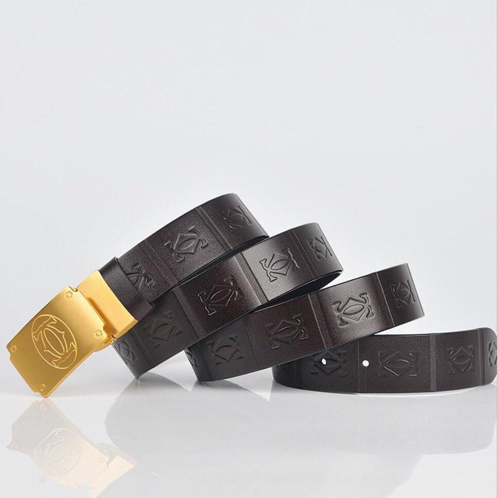 Color : A, Size : 115 XUEXUE Mens Belt,Slide Buckle Leather Belt,Stylish Vintage Belt,Formal Belts,Fashion Jeans /& Casual Wear /& Cowboy Wear /& Work Clothes Uniforms Vintage Stylish
