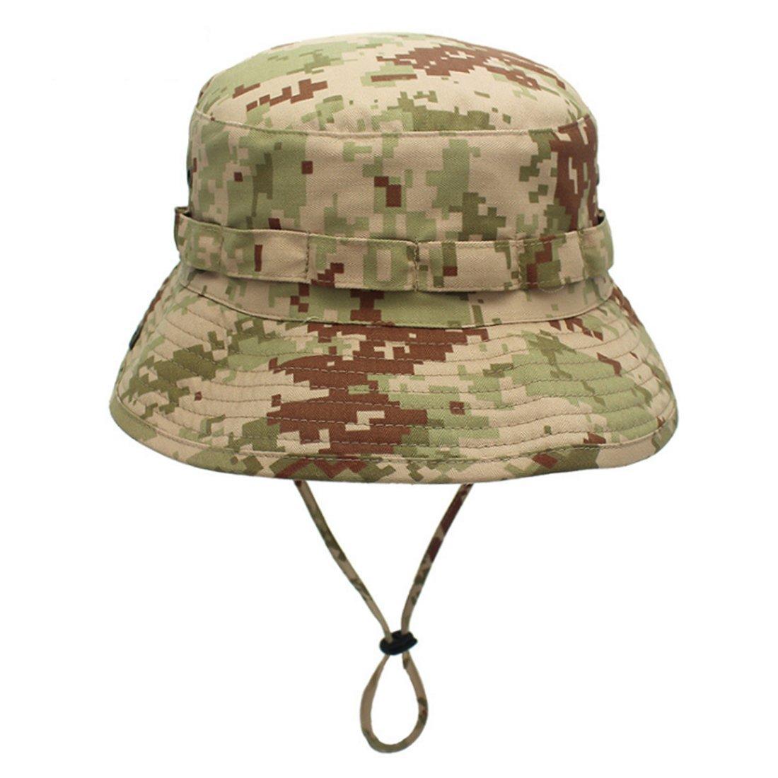 Jormatt Women Outdoor Boonie Hat Camouflage Sun Hat Breathable UV Protection