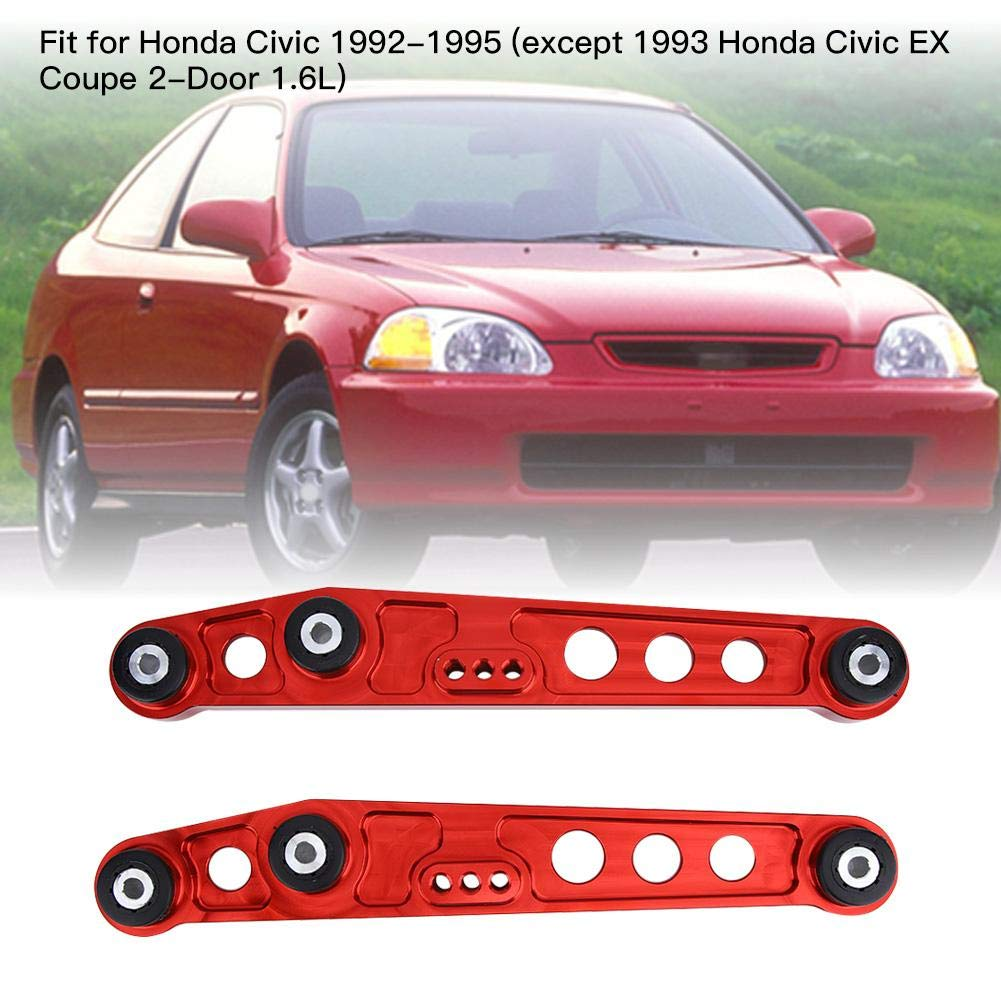 Aluminium Alloy Subframe Brace Tie Bar For Honda Civic 92-95 Siliver SL Fydun 3Colors Rear Lower Control Arm Red