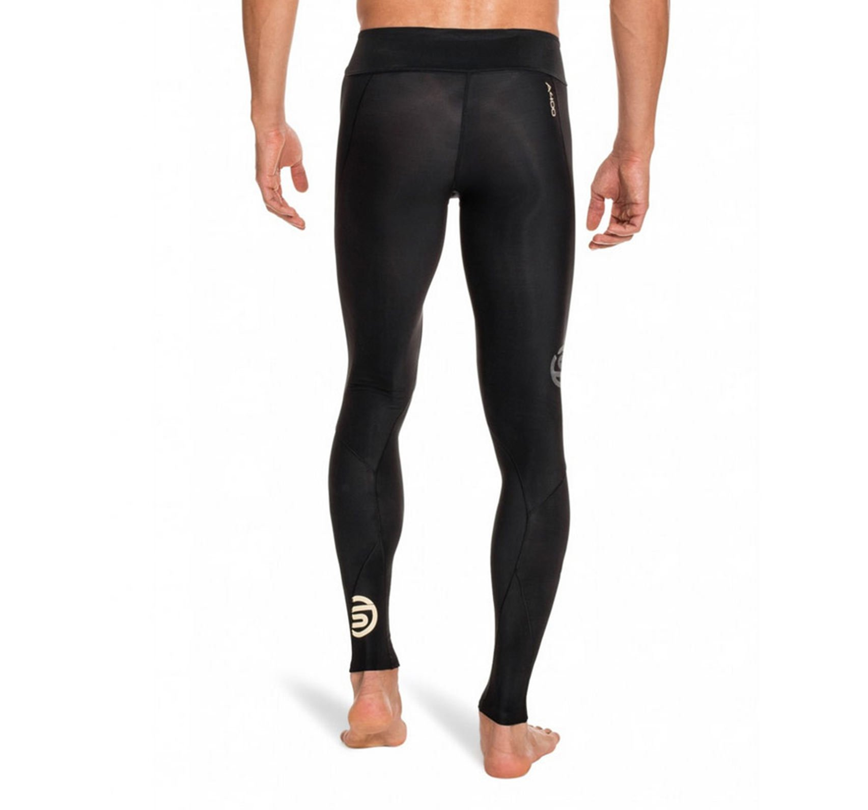 Skins Men's A400 Compression Long Tights, Black/Gold, XX-Large by Skins (Image #3)