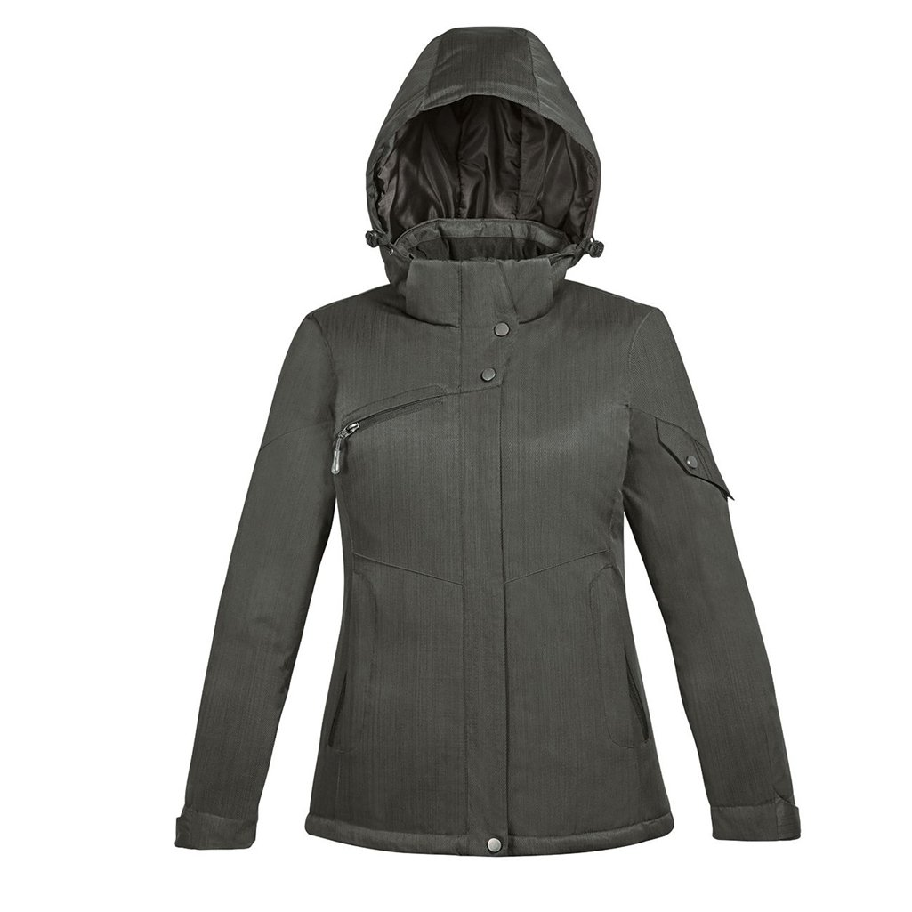 Ash City Apparel North End Rivet Ladies Insulated Jacket (X-Small, Carbon/Black)