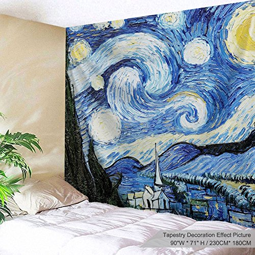 (Alfalfa Wall Hanging Decor Nature Art Polyester Fabric Tapestry, for Dorm Room, Bedroom,Living Room - 90