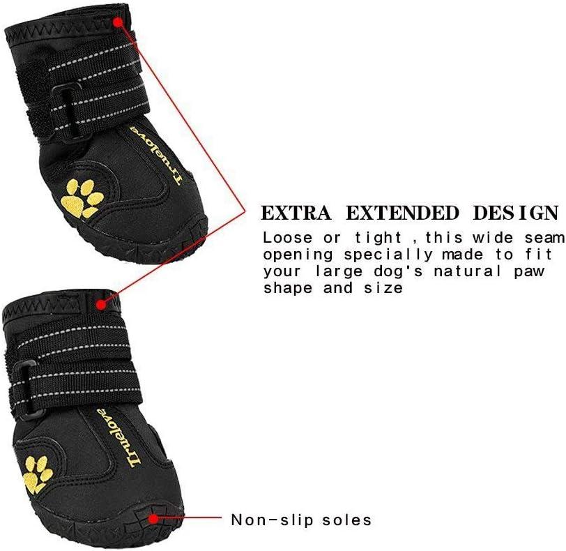 Truelove tls3961/Hund Schuhe wasserdicht Anti-Rutsch Regen Stiefel mit reflektierendem Klettverschluss Set von 4/Jetzt erh/ältlich