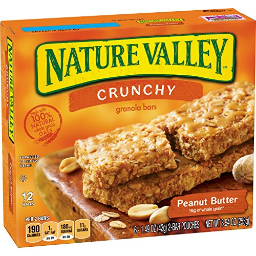 Nature Valley Crunchy Granola Bars, Peanut Butter, 6 Count, 1.5 Ounce Each