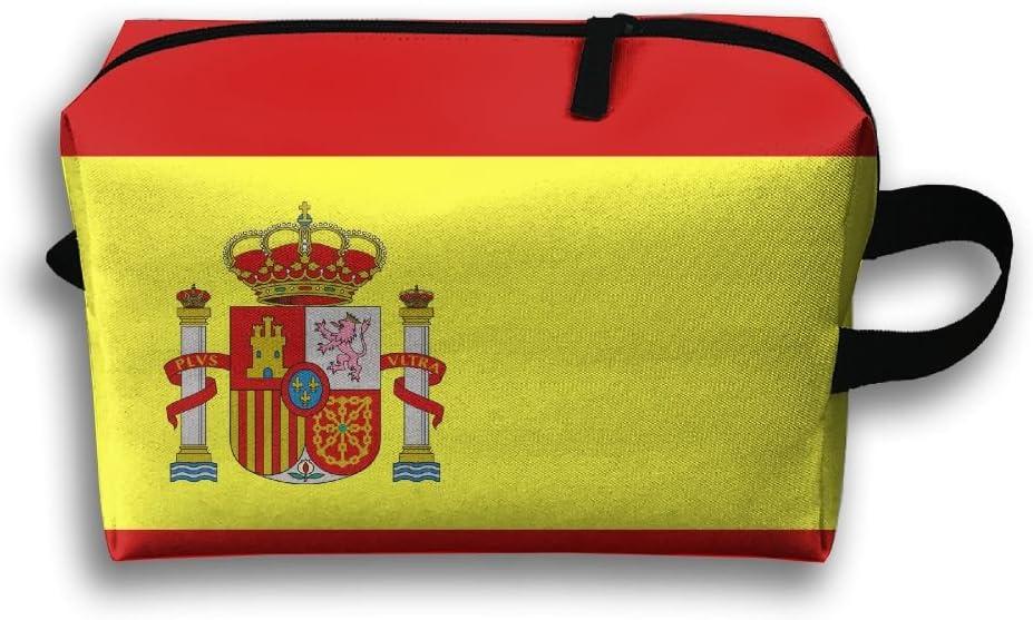 GNMB Bandera de España Portátil Viaje Casa Lencería Sujetador Cosmético Maquillaje Bolsa de Almacenamiento Bolso de Mano: Amazon.es: Hogar