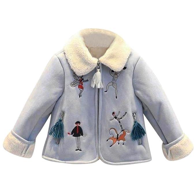 Bebé Terciopelo estampado del cordero del ante abrigo con pelo , Yannerr niña niño invierno primavera
