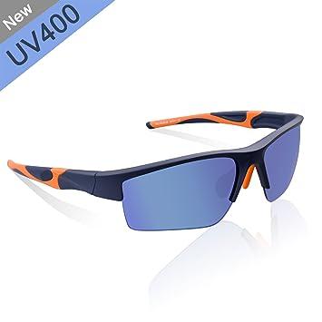 Elegear Gafas de Sol Deportes Gafas Deportiva de Sol Anti-Aceite Seguridad Gafas para Running Ciclismo Pesca esquí de Béisbol Super Resistente y ...