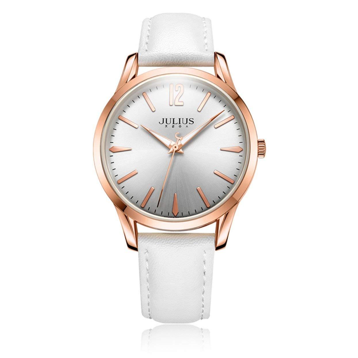 Julius JA-983 Reloj de Pulsera de Moda para Hombre Relojes Deportivos Sencillos Impermeable de Cuero Espejo Hardlex Reloj de Regalo de Moda: Amazon.es: ...