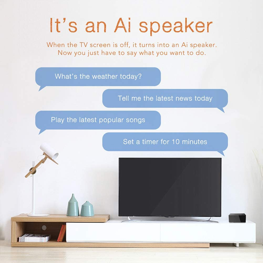 Mxq Tv Cube Android 7 1 Atv Tv Box With Built In Ai Speaker S905w Quard Core 2g 16g 4k Wifi 2 4ghz 5ghz T2r2 Bluetooth 4 2 Voice Control Smart Tv Media Player