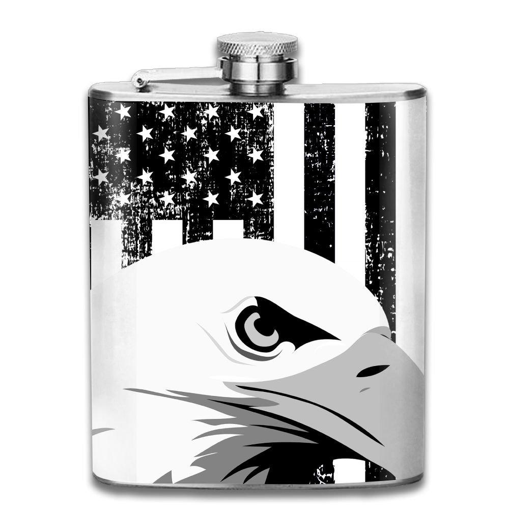 【最安値挑戦】 jf-xブラックEagle Liquor B07CV6PJBQ in American FlagステンレススチールヒップフラスコPersonalised Liquor WiskeyワインポットFlagon (7oz) American B07CV6PJBQ, 松原市:40929867 --- vezam.lt