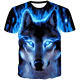 Genuxury Fashion Mens 3D Digital Printed Design Pattern T-Shirts Top Tees