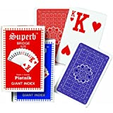 Piatnik Playing Cards - Superb Giant Index single deck (Colours may vary)