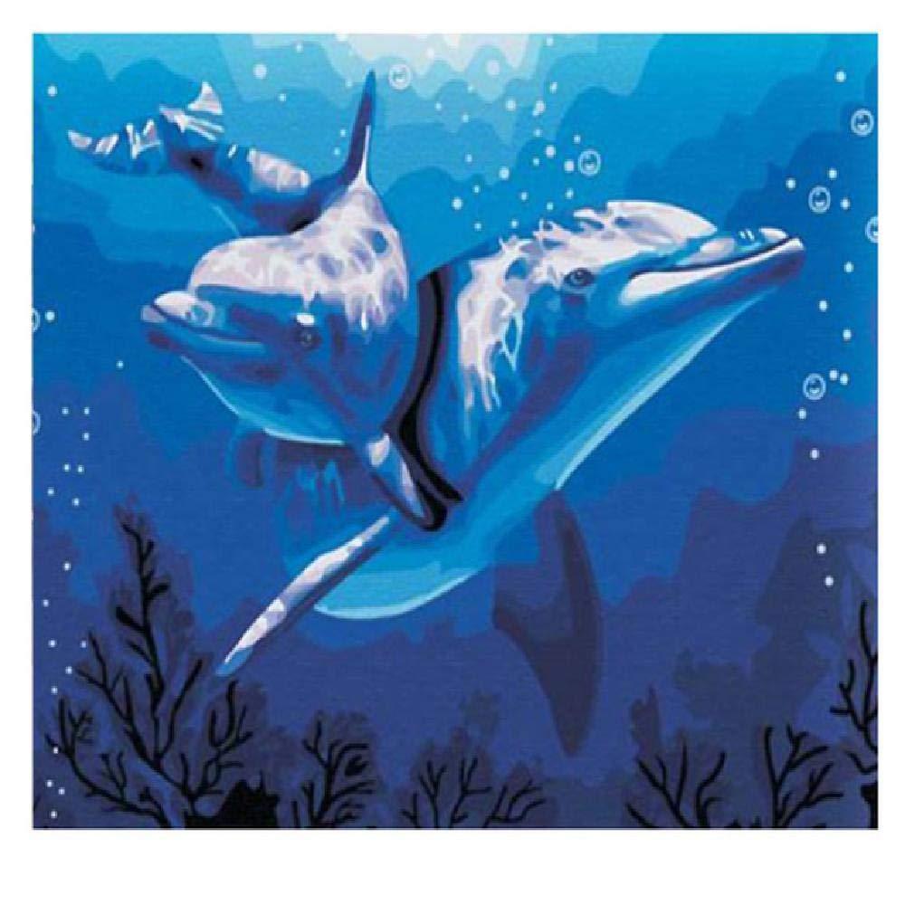 tienda en linea 80x100cm Diy Pintura Digital Dolphin,80X100Cm Pintura Pintura Pintura Digital Lienzo Arte De La Parojo Obra De Arte Pintura De Paisaje Sala De EEstrella En Casa Oficina Decoración De Navidad Decoración Regalo De Los Niños Adultos  los últimos modelos