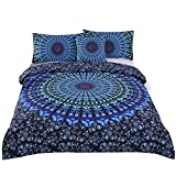 Whats the Size of a California King Bed Sleepwish 4 Pcs Bohemian Bedding Set Bohemia Blue Mandala Bedding Medallion Duvet Cover Set Cal-King Size