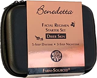 product image for Benedetta Facial Regimen Travel & Gift Set - Neroli for Drier Skin - Dry Skin, Hydrating, Balancing, Anti-aging, Moisturizing