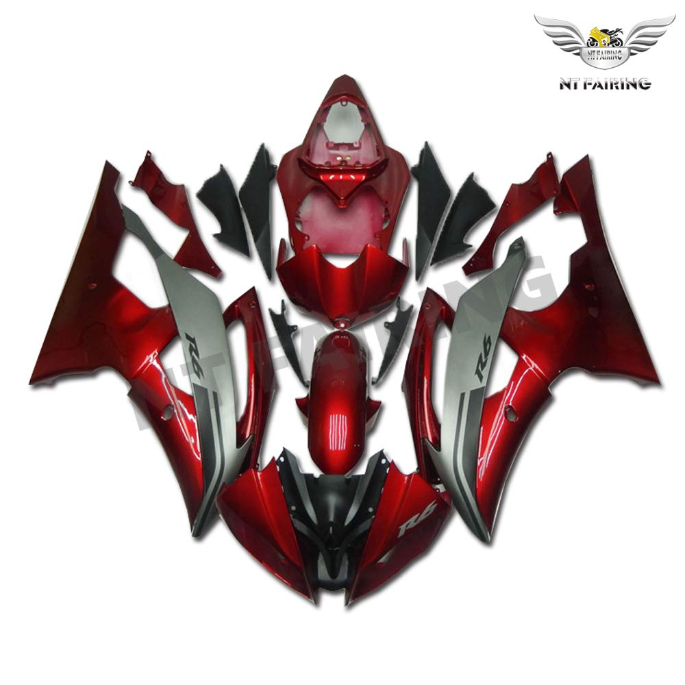 New Red Black Fairing Fit for YAMAHA 2008-2016 YZF R6 Injection Mold ABS Plastics New Bodywork Bodyframe 2009 2010 2011 2012 2013 2014 2015