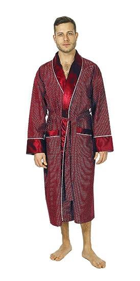 Bown of London Men\'s Luxury Dressing Gown, Lightweight Mock Silk ...
