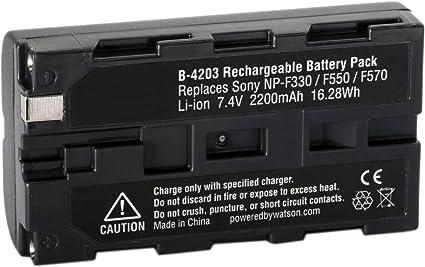 2 x NP-F550 2100mAh Battery Replacement Pack F570 F530 F330 F750 7.2V Li-ion UK