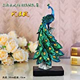 European peacock ornaments gift wine decor Home Furnishing new living room furniture zj01251124 ( Color : Green )