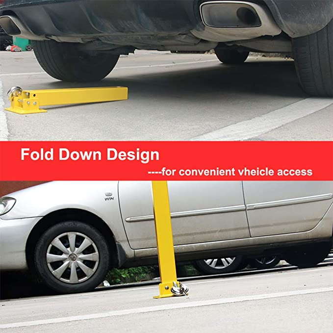 Car Van Fold Down Parking Locker Space Safety Security Barrier Foldable 550Lx 400Hx70x 60mm