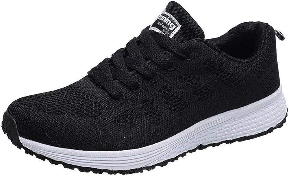 Londony ♪✿ Women's Cross Trainer Running Shoe Fashion Sneakers Mesh Breathable Walking Shoes Black