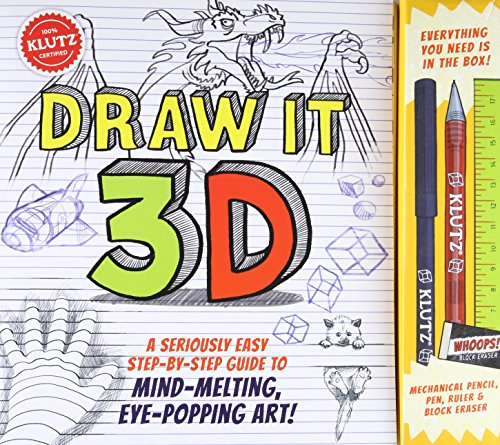 KLUTZ Draw It 3D Toy - Through How See Make Glasses To