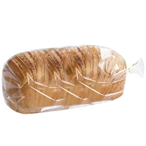200 count Benail Bread Loaf Bags With Free Twist Ties (200 Pack)