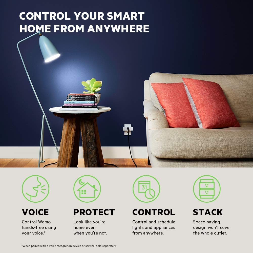 Wemo Mini Smart Plug, Wi-Fi Enabled, Compatible with Alexa (F7C063-RM2) (4 pack) (Renewed) by WeMo (Image #7)