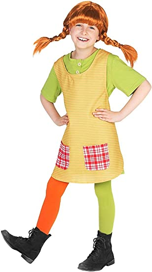 Maskworld Pippi Longstocking Fancy Dress Childrens Costume (3-4 ...
