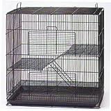 NEW Large 3 Levels Ferret Chinchilla Sugar Glider Rats Animal Cage, Tight 1/2-Inch Bar Spacing