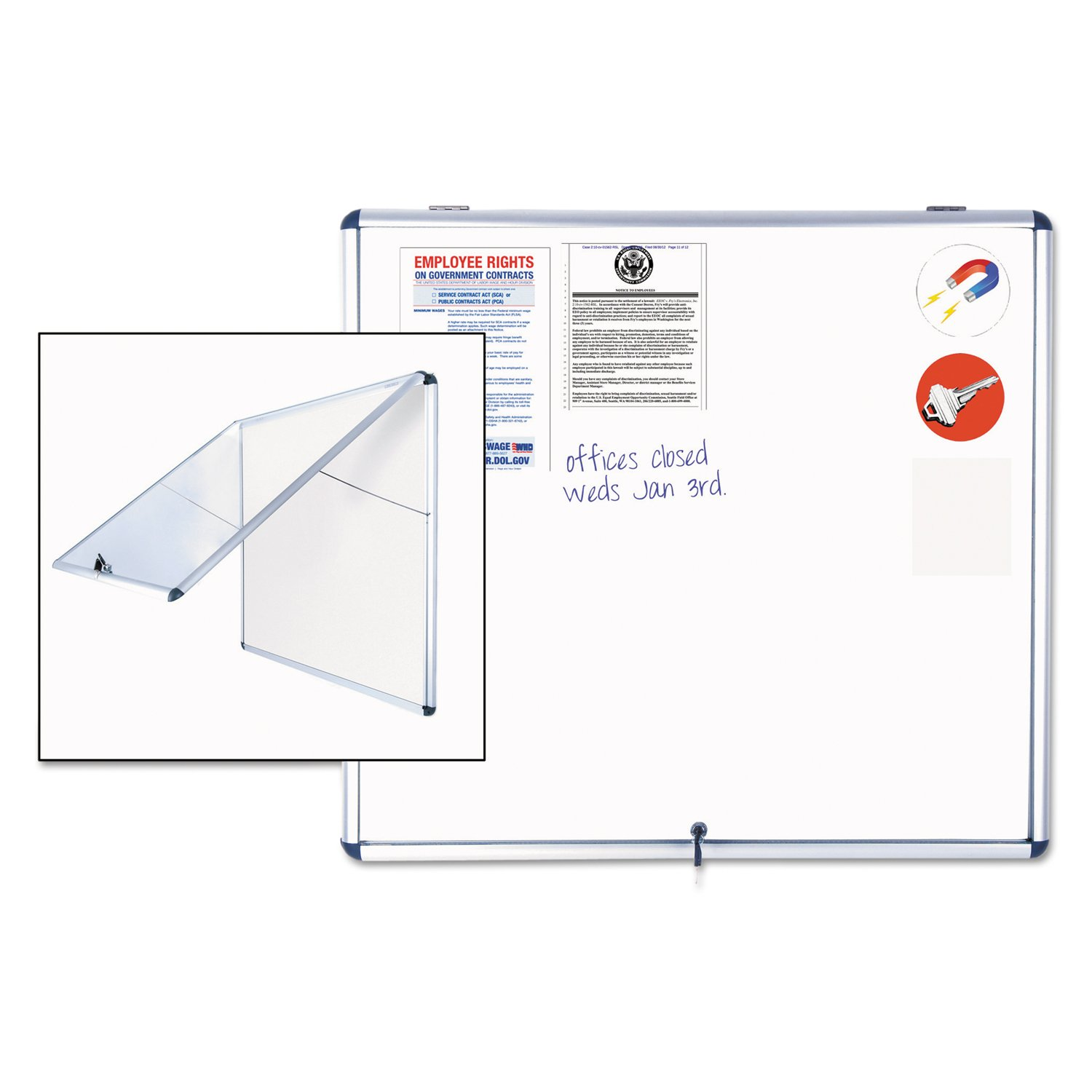MasterVision Slim Easel Style Dry Erase Board (VT380109150)