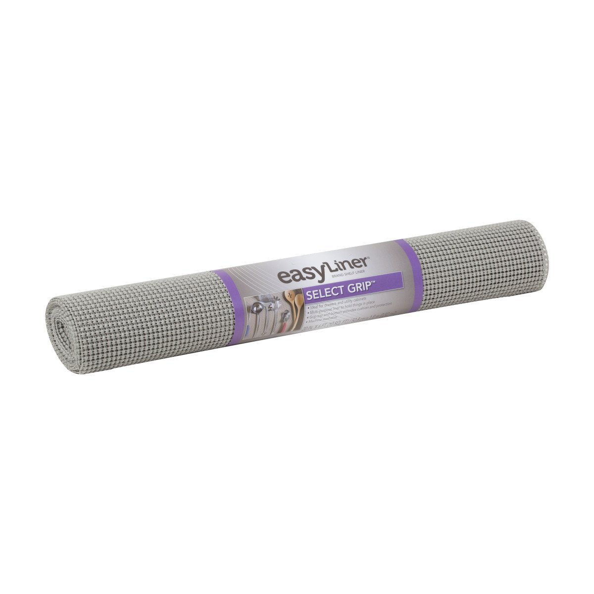 Duck Brand 283311 Select Grip Easy Liner Non-Adhesive Shelf Liner, 20-Inch x 6-Feet, Light Grey