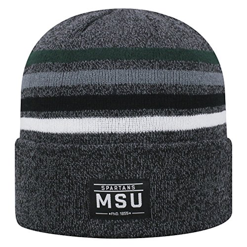 Top of the World Michigan State Spartans Official NCAA Cuffed Knit Upland Stocking Stretch Sock Hat Cap Beanie 464961 (Michigan State Stocking Cap)