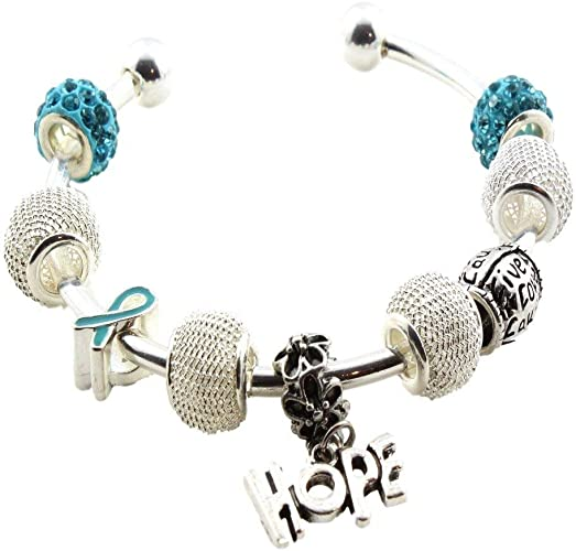 Ovarian Cancer Awareness Hope Bracelet Amazon Ca Jewelry