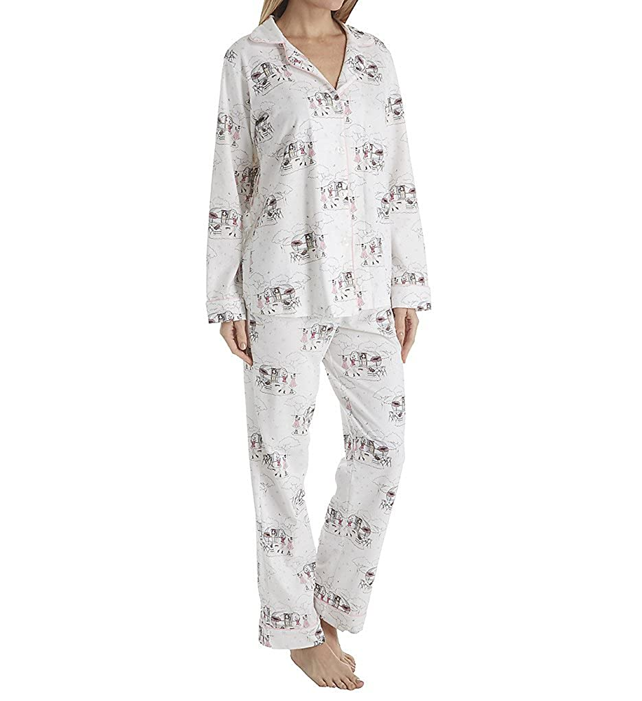 BedHead Pajamas Camping Long Sleeve Long Notch PJ (1002S) at Amazon Women s  Clothing store  c99c6d60c