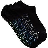 Bonds Men's Logo Light No Show Sport Socks (4 Pack)
