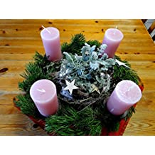 Home Comforts Laminated Poster Christmas Time Pink Candles Lights Advent Wreath Poster 24x16 Adhesive Decal