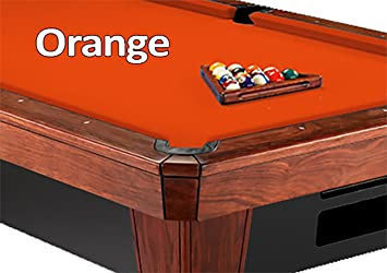 Lovely 9u0027 Simonis 860 Orange Pool Table Cloth Felt