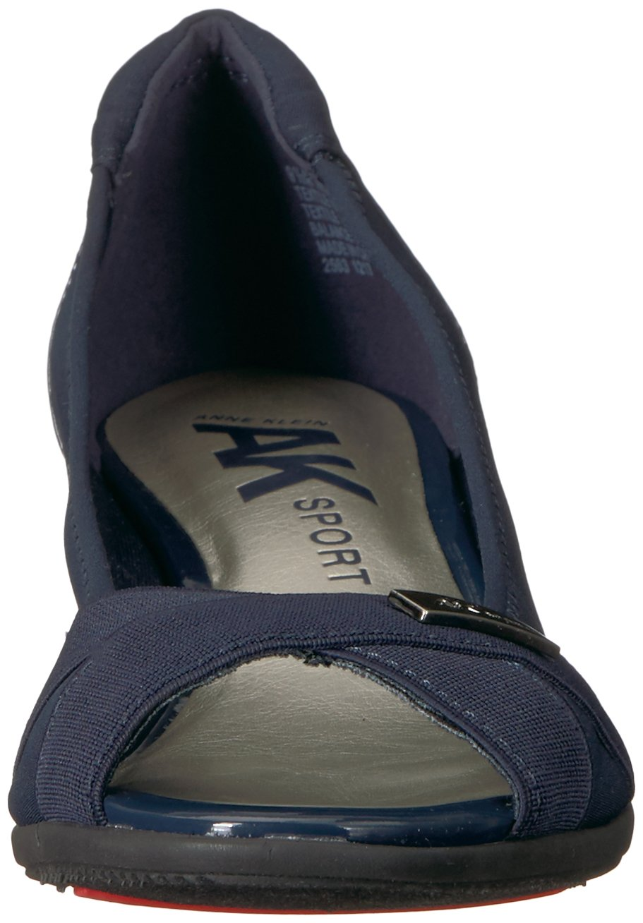 Anne 9 Klein Women's Jetta Navy Fabric Ballet Flat B078GXZHJL 9 Anne B(M) US|Navy Multi Fabric/Navy d28294